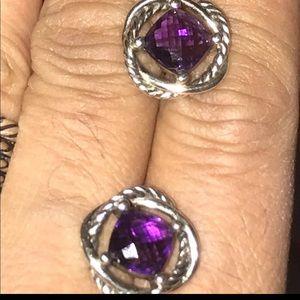 David Yurman Amethyst Infiniti Earrings